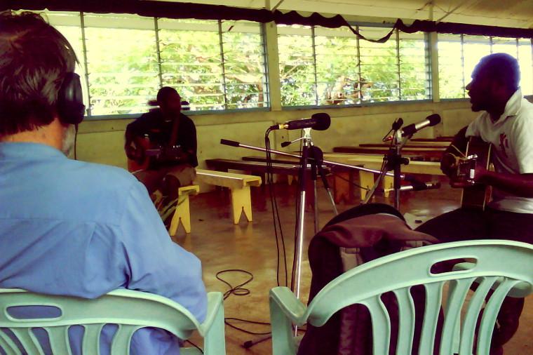 Recording in Ranwadi Chapel